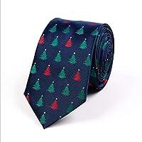 Augproveshak Christmas Ties for Men, Christmas Tree Pattern Tie, Jacquard Neckties