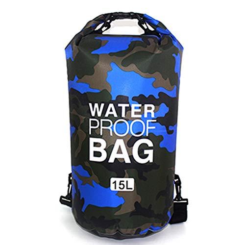 ouflage Tragbare Rafting Tauchen Packsack PVC Wasserdicht Falten Schwimmen Aufbewahrungstasche für River Trekking ()