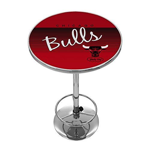 Trademark Global NBA Chicago Bulls Pub-Tisch, Chrom, Einheitsgröße