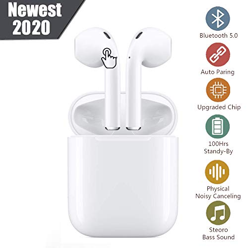Auriculares Bluetooth Auriculares inalámbricos 5.0 Auriculares Bluetooth en Oreja Popup automático Auricular Estéreo inalámbrico en Oreja Manos Libres para Apple Airpods/iPhone/Android/Samsung