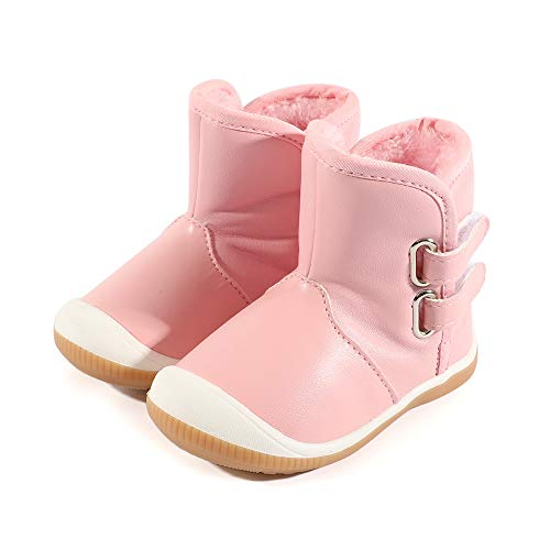 LACOFIA Toddler Boys Girls Anti-Slip Rubber Sole Waterproof Winter Warm Snow Boots