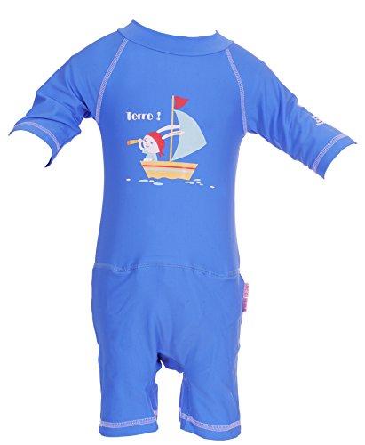 Rosa–Kombination Anti UV UPF50+ mit Schicht Aussparung Swim + blaue Hase Blau Bleu marina 24-36M(14-17 KG)