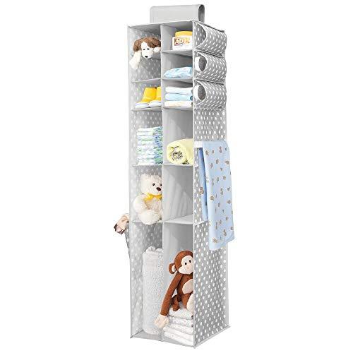 MDesign Organizador colgante - Organizador para ropa y zapatos con 16 compartimentos, ideal...