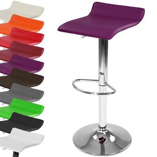 Miadomodo Barhocker Barsessel Hocker drehbar und höhenverstellbar inkl. Fußablage mit Farb- und Setwahl