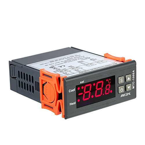 KKmoon AC220V Thermostat Thermo-Heizung und Kühlung Thermometer des Thermometer Digital LED mit Relais NTC Sensor 2 - Heizung Kühlung Thermostat