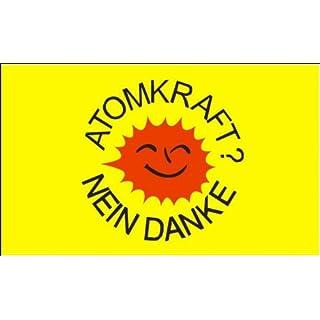 Flagge Fahne Atomkraft Nein Danke gelb 90x150cm