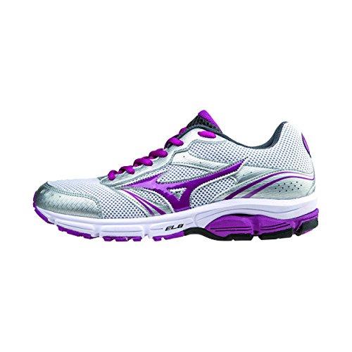 Mizuno Zapato Running Mujer Oficial 2015/2016 Wave Impetus 3 WOS J1GF151369 Plateado Blanco Burdeos Tamano 40