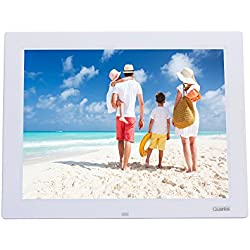 Quarice - Cornice digitale (35,36 cm (14 pollici) con display LCD ingresso per scheda SD/MicroSD/MMC/MS/U Disco USB 2.0 HD con telecomando