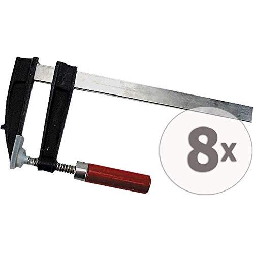 Gardopia Sparpaket: Brema Schraubzwinge 80x200 Temperguss 8 Stück