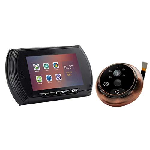 Mengonee 4,5-Zoll-HD-IPS-Schirm-Kamera Video-Smart-Digital-Tür-Projektor-Nachtsicht-Türklingel