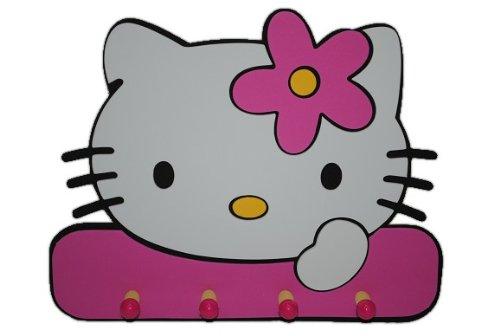 (Unbekannt 3-D Garderobe Hello Kitty Moosgummi 4 Haken Kind Kinder Mädchen Katze Kätzchen)