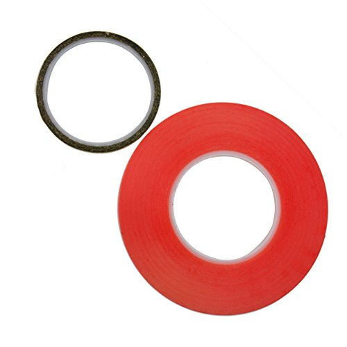 Pinzhi 1 rouleau rouge 50mx3mm PET Phone Screen LCD Repair Double face Adhensive Sticky Tape