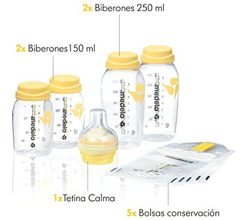 Set regalo Medela para recogida y alimentación con botellas biberón y tetina Calma