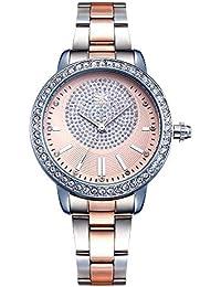 d089d7d8a481 SHENGKE Relojes de Mujer Banda de Cuero Relojes de Cuarzo de Lujo Vestido  para Mujer Reloj