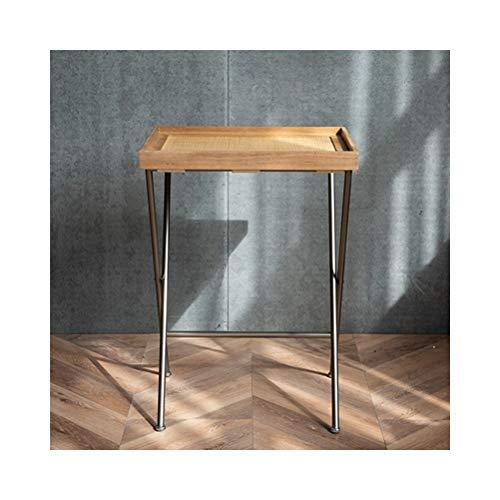 End Tables Beistelltische Faltbare Rattan Freizeit Rack Square Haushalt Couchtisch einfaches Regal, einfach zu montieren 0708 (Size : 48X38X66.5CM) -