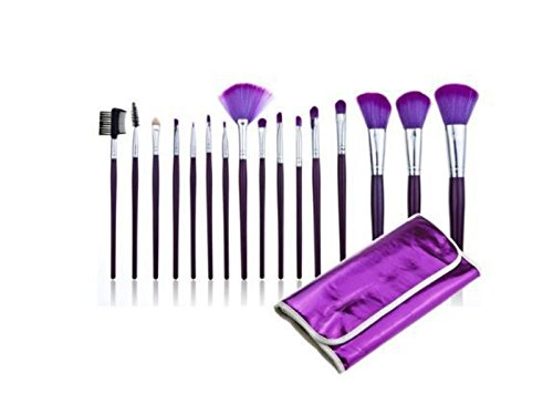 Fournitures de bain 16 Pcs Purple Fondation Cosmétique Make Up Kit Maquillage Brosse Kit Nettoyer