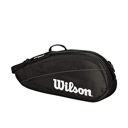 Wilson Tennistasche Fed Team, Fed Team 3 Pack, schwarz/weiß