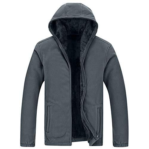 Setsail Herren Outdoorjacke Herbst und Winter Plus Velvet Thicker Kleidung Kragen KapuzenHerrentel (Einreiher Kragen Denim)