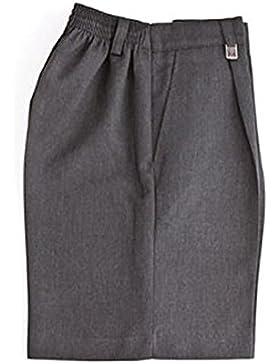 Pantalones cortos de escuela para niños - Poliester medio elástico y viscosa Pantalones cortos resistentes