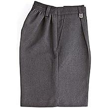 38c0d656 Zeco Schoolwear Pantalones Cortos de Escuela para Niños - Poliester Medio  Elástico y Viscosa Pantalones Cortos