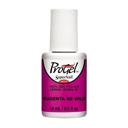 SuperNail ProGel LED/UV Vernis à Ongles - Tropical Pop! Collection - Magenta Me Wild - 14ml
