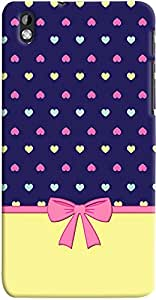 PRINTVISA Pattern hearts girly Case Cover for HTC Desire 816