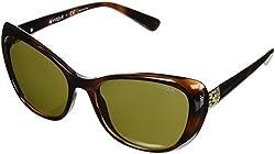 Vogue Womens Plastic Woman Oval Sunglasses, Dark Havana, 57 mm