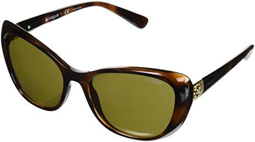 Vogue 0vo5194sb 238673, occhiali da sole donna, marrone (dark havana/brown), 57
