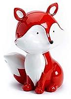 Questo grazioso salvadanaio a tema volpi è ideale come regalo per maschietti e femminucce. Realizzato con cura, graziosa pelliccia arancione, muso bianco, coda e petto bianco. Ampia fessura per monete sulla parte alta e apertura in gomma sul ...