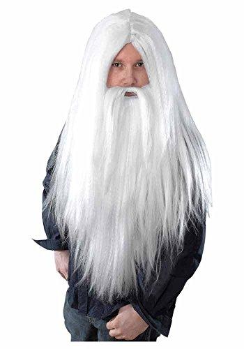 mit Bart - Zauberer - Weiß ()