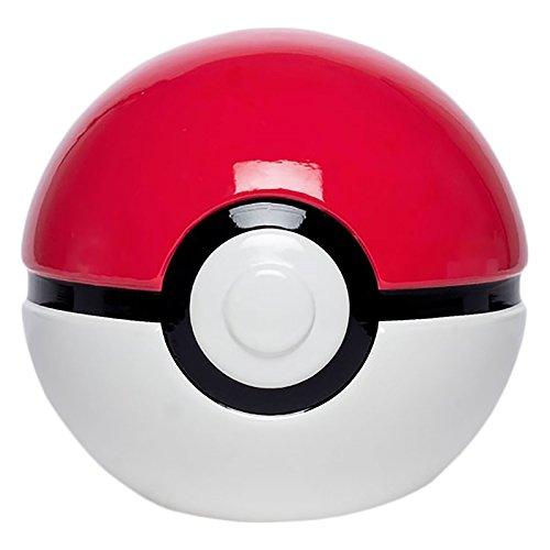risparmio Pokemon box Pokeball 3D Nintendo Ø16cm in ceramica bianca rossa