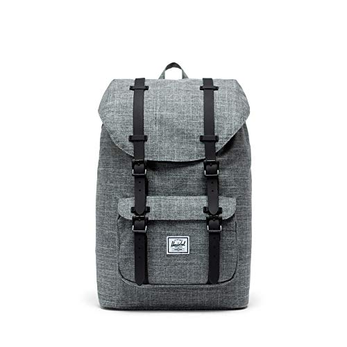 f348ccaebd Herschel Supply Co. Little America Mid-Volume Backpack, Raven  Crosshatch/Black Rubber