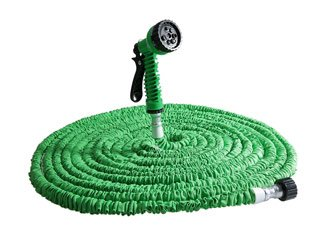 YOOYOO 100FT Expandalble Garden Hose Water Pipe with 7 Modes Spray Gun (Green)
