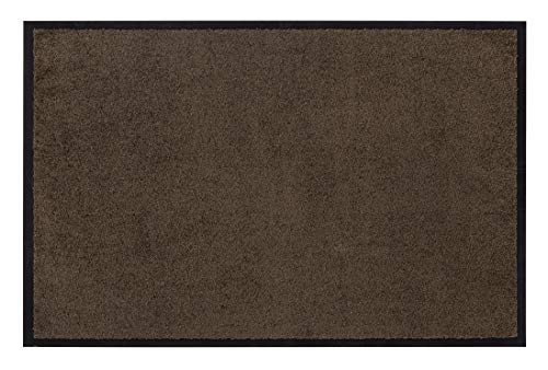 Andiamo Eingangsbereich in/Outdoor - Rutschhemmend Waschbar Fußmatte, Polyamid, Teak, 80 x 120 x 1 cm