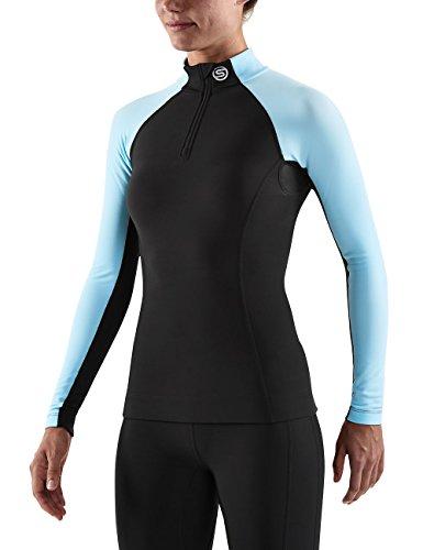 Skins A200 Top manches longues zippé Femme Black Black