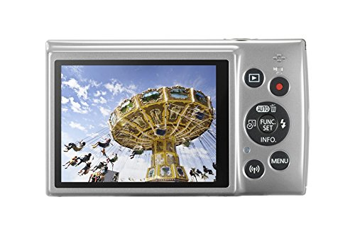 Canon IXUS 190 Digitalkamera (20 Megapixel, 10x optischer Zoom, 6,8 cm (2,7 Zoll) LCD Display, WLAN, NFC, HD Movies) silber -