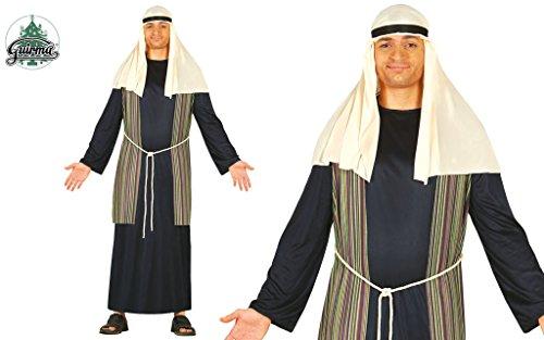 Costume pastore arabo blu giudeo Presepe vivente folla Passione di Cristo