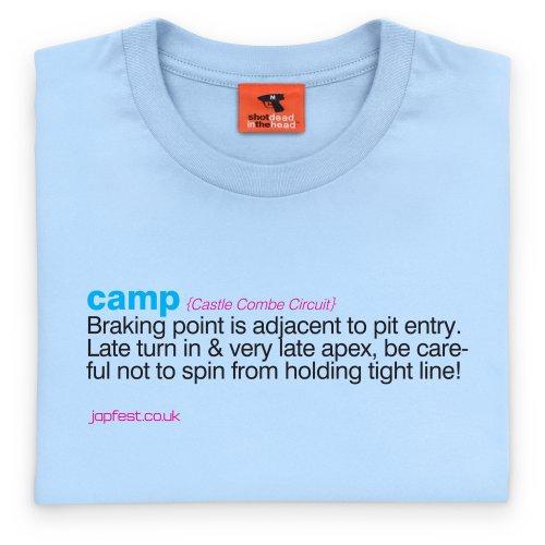 Japfest Castle Combe Camp T-Shirt, Herren Himmelblau