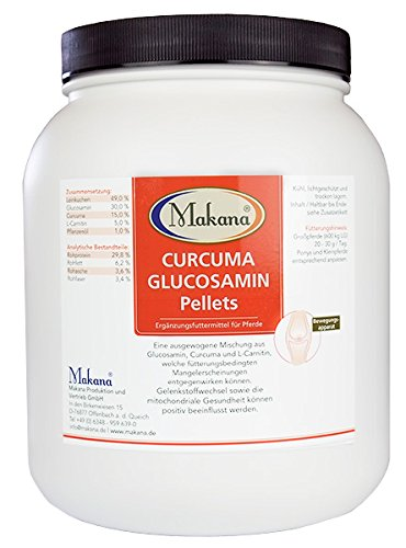 Gesundheit Glucosamin (Makana Curcuma Glucosamin Pellets, 1er Pack (1 x 1.5 kg))