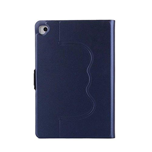 iPad Multifunktional Schutzhülle,Miya Schutz TPU innen-Material Lässiger Stil Mit Standfunktion Winkel einstellbar Wasserfeste, stoßfeste, rutschfeste und kratzfeste Hülle(Pro 10.5,Dunkelblau)