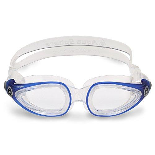 Aqua Sphere Eagle Erwachsenen-Schwimmbrille - Klare Gläser - Klares Gestell Ausgezeichnet zum Schwimmen geeignet
