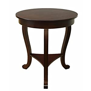 Expresso : Frenchi Home Furnishing Burl Accent Table, Large