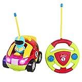 XINXUN RC Polizeiwagen Traktor Ferngesteuert Auto Fahrzeug Spielzeug, Cartoon Wagen Spielzeugauto Abschaltbare Sound- und Musikeffekte, RC Auto für Kinder ab 3 Jahren