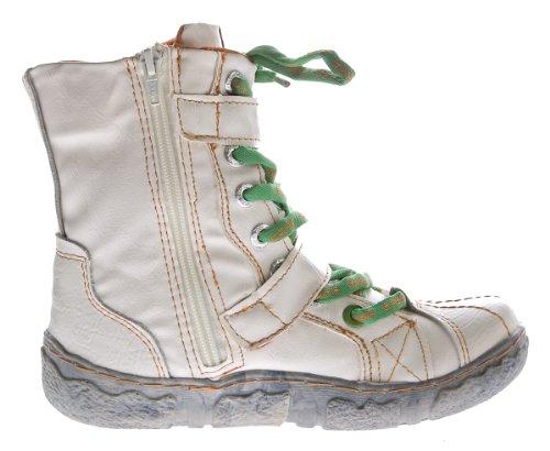 Damen Winter Stiefeletten echt Leder gefüttert Comfort Stiefel TMA 7087 Schuhe Boots Gr. 36 - 42 Weiß