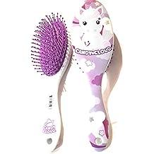 Candy Cloud - Cepillo para el pelo, diseño de unicornio, pequeñas nubes