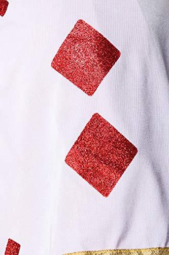 Atixo Red Queen Kostüm - schwarz/rot/weiß, Größe Atixo:XS-S