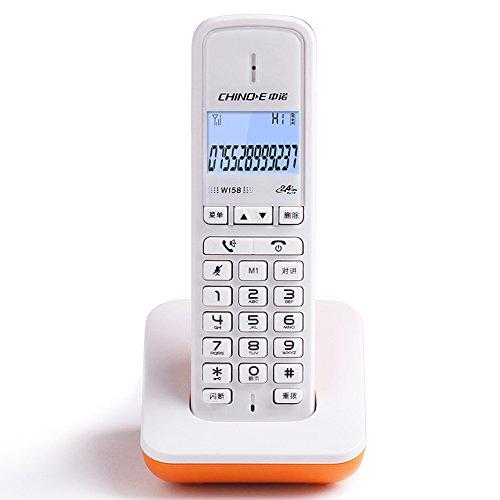 Teléfono inalámbrico Digital, teléfono Fijo inalámbrico para la Oficina de Negocios en el hogar, Botones Chinos y Pantalla de menú Fyxd (Color : Orange)