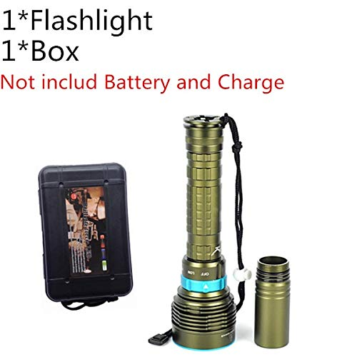 B, Cina, T6: 7* XML L218000lumen LED immersioni torcia elettrica 7x XML T612000LM LED torce Linternas subacquea 100m impermeabile lampada