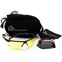 Duck's Unlimited Shooting Glasses Kit with 4 Interchangeable Lenses-Neoprene Storage Case Included by Ducks Unlimited preisvergleich bei billige-tabletten.eu