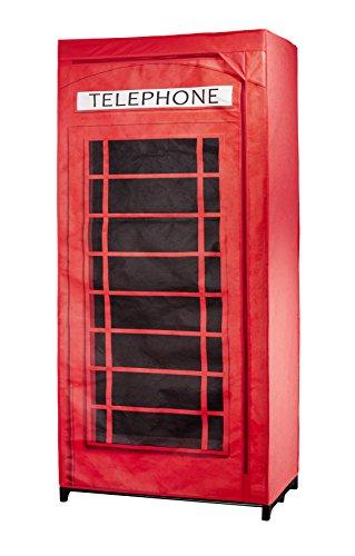 Wenko 86352500armadio cabina telefonica gran bretagna, polipropilene, 45x 75x 160cm